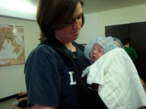 Baby in a Hair Net
