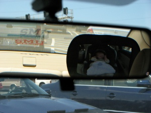 In the rearview mirror
