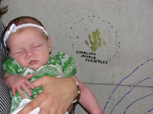 Caroline's tiny handprint