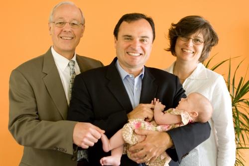 Caroline with her pastors
