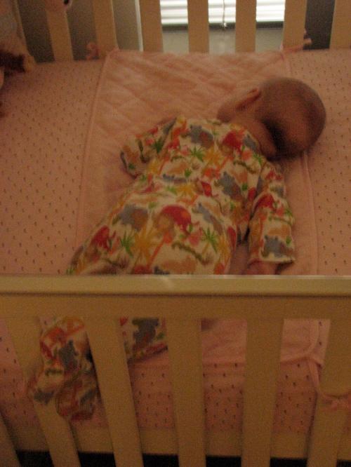 Sleeping sideways on the belly